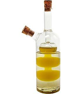 öl Essig Spender essig und öl spender aus glas 2in1 karaffe edles design