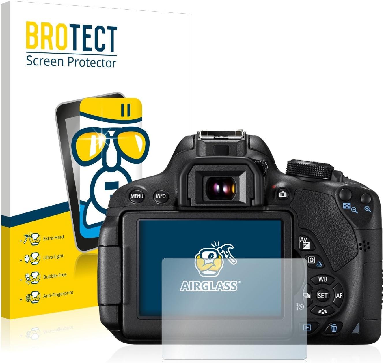 HD-Clear 9H H/ärte Anti-Fingerprint BROTECT Panzerglas Schutzfolie kompatibel mit Canon EOS 700D AirGlass