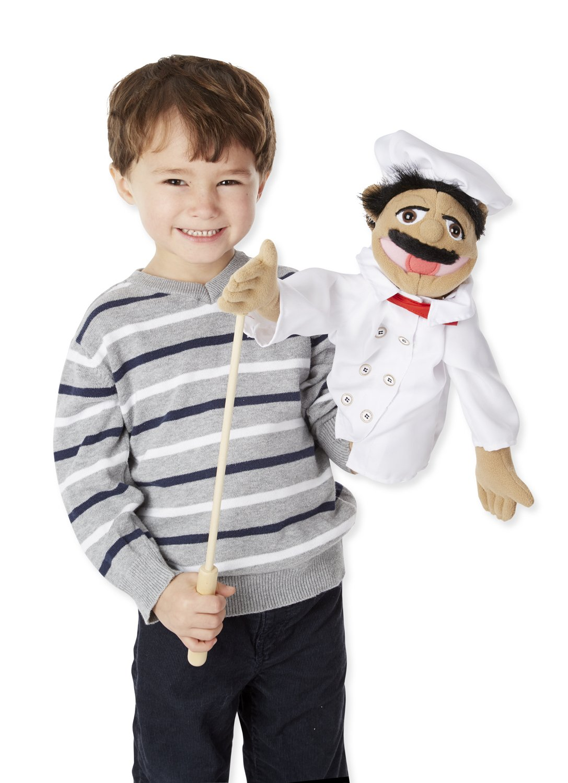 amazon com melissa u0026 doug chef puppet with detachable wooden rod