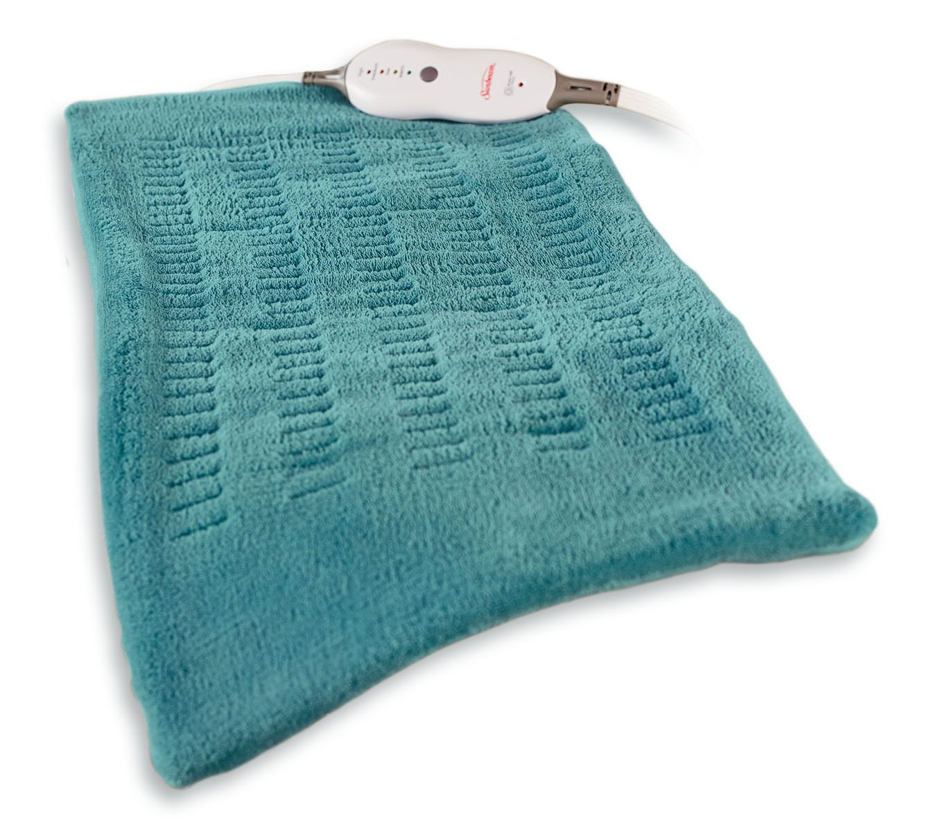 Sunbeam King-Size Microplush/SoftTouch Heating Pad,  4 Temperature Settings with Digital LED Controller, 2-Hour Auto Shut-Off, Machine Washable, 12'' x 24''