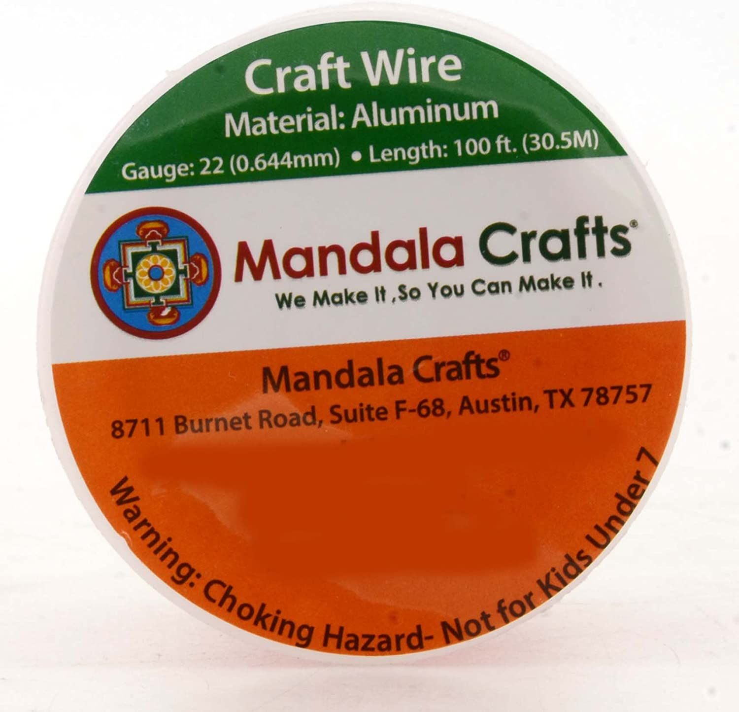 Mandala Crafts Anodized Aluminum Wire for Sculpting 1 Roll Armature Colored and Soft Garden Gem Metal Wrap Jewelry Making 14 Gauge, Silver