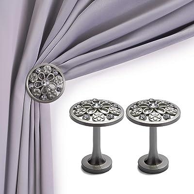 Flower Shape Metal Ball Curtain Hooks Tassel Wall Tie Back Hanger Holder ONE