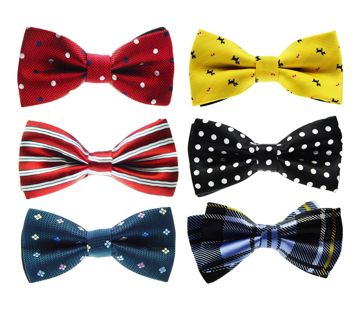 Tiger Mama 6in1 Adjustable Boys Bow Tie Collection (SET-02)
