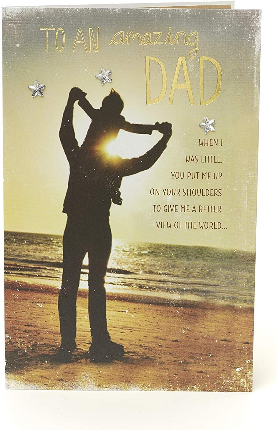 Ideal Card To Send From Daughter From Son Sentimental Dad Cards With Lovely Verse Birthday Gifts For Him Dad Birthday Card Gift Card For Him Gifts For Dad Office Paper Products Cards