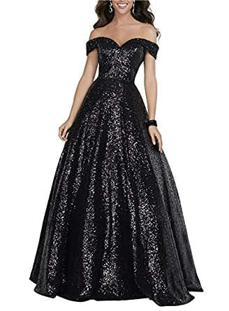 Beauty Bridal Womens Off Shoulder Sequins Prom Gowns Evening Dresses 2017 Long S014 (2,