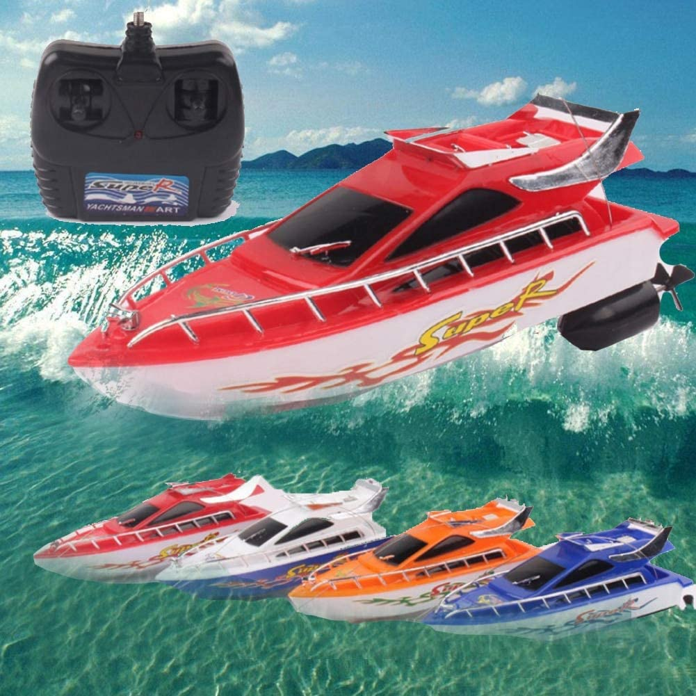 Genex Barco Teledirigido Radiocontrol Lakes Adultos Juguetes Acu/áticos Mini Control Remoto con Bater/ía El/éctrica Ni/ños Racing Speed RC Barcos Color Aleatorio