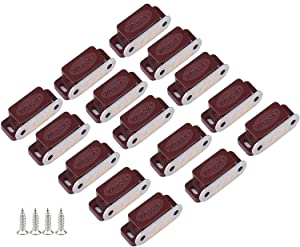 Magnetic Door Catch, Tiberham Heavy Duty Cabinet Magnet Catches, Kitchen Door Latch Furniture Fitting Closet Cupboard Wardrobe Silent Locks Stopper Hardware with Screws (Pack of 15)