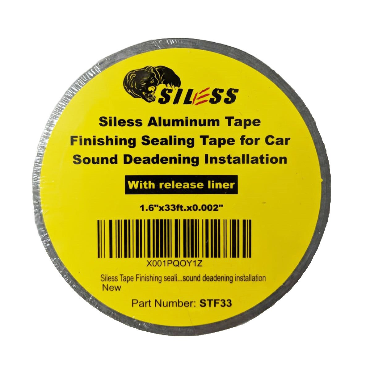 Siless Aluminum Tape Finishing sealing tape for Car Sound Deadening Mat installation - Sound Deadener Mat Finish Tape Roll Sound Insulation - Dampening Door Trunk Rood Hood