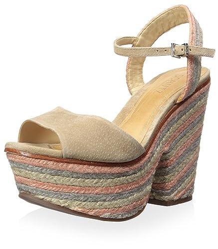 c528e97103bfc Amazon.com: SCHUTZ Women's Platform Demi Wedge Sandal, Brush Sand ...