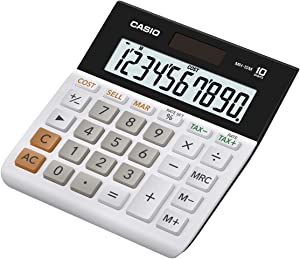 Casio MH-10M Business Calculator, Black/White