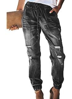 Amazon.com: TIFENNY - Pantalones vaqueros rectos para mujer ...