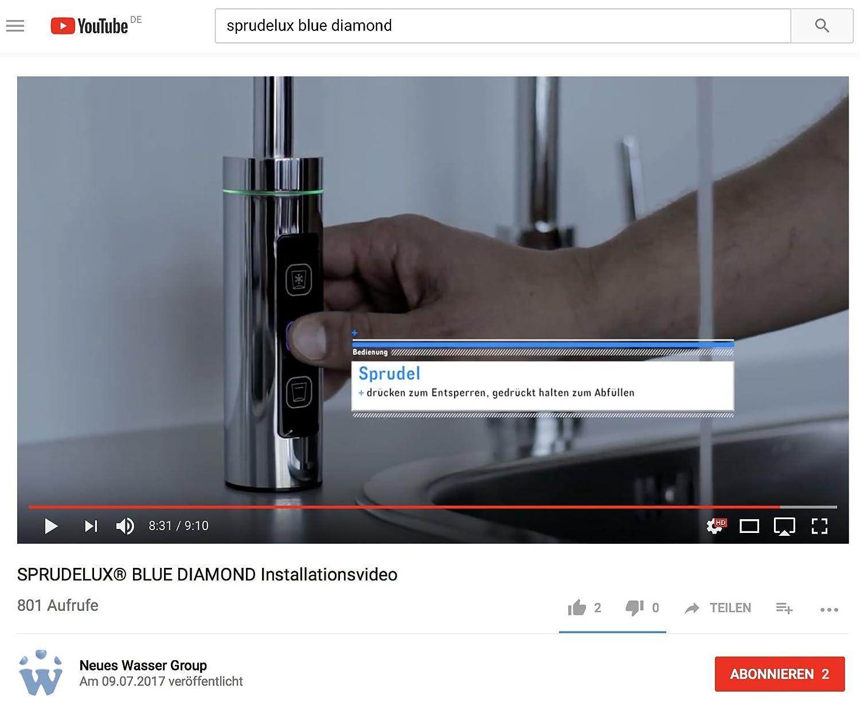 Sotto Tavolo Di Acqua Potabile System Sprude Lux Blue Diamond Include 3 Vie  Supplementare Per Cruscotto. Professionale Di GASATORI Per Uso Privato In  Casa. ...