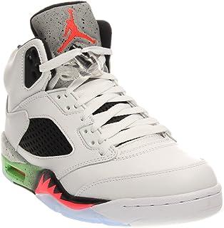 b1454d18450 Nike Men s Air Jordan Retro 5 Basketball Shoes White 136027-115 ...