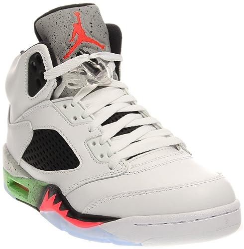 Nike Men's Air Jordan Retro 5 Basketball Shoes White 136027-115 (12)
