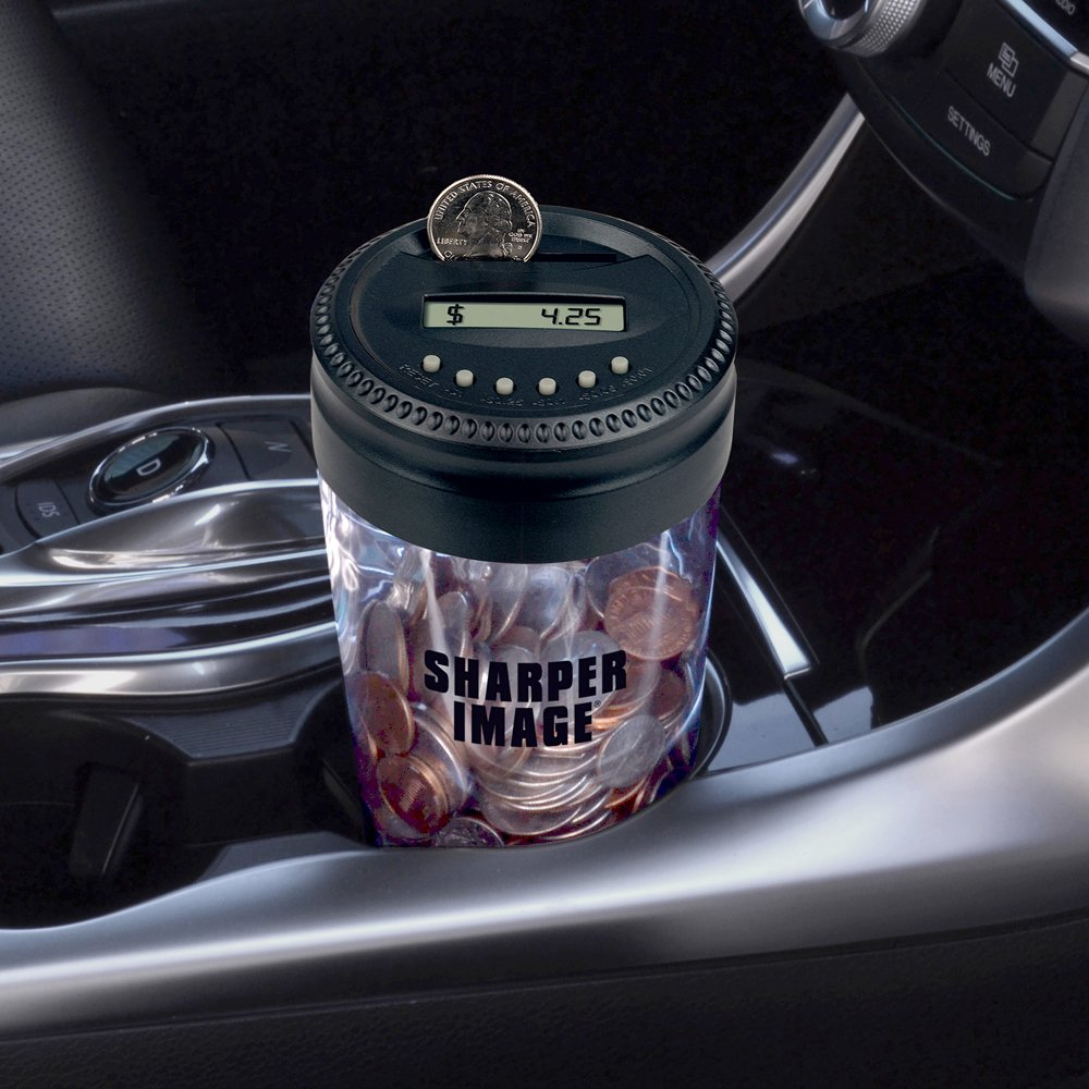 Sharper Image SI-AA2 Digital Coin Jar Smart Planet