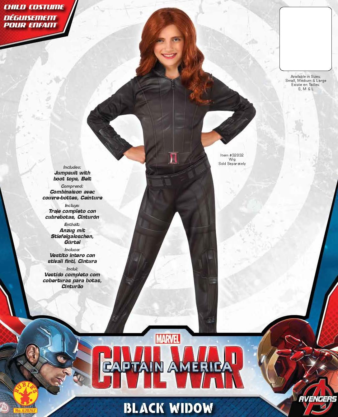 Rubie S 620767m Widow Costume Civil War Outfit Kids Black Medium Age 5 7 Years