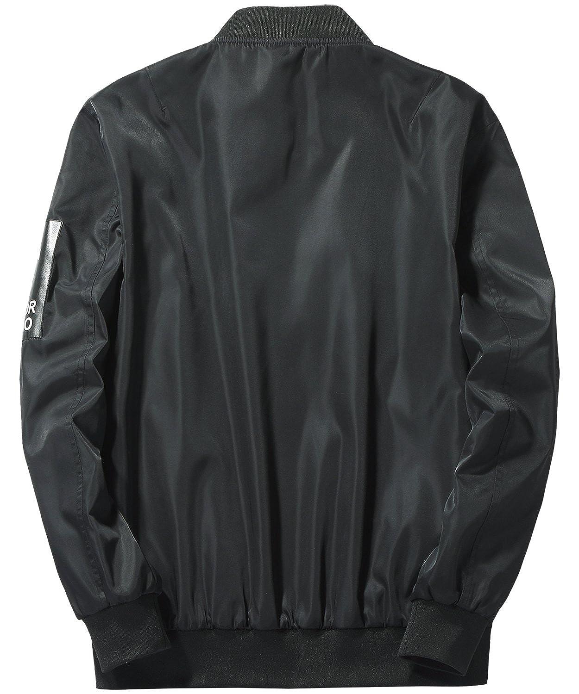 3135aeb554a37 HENGAO Men's Reversible Bomber Jacket Coat at Amazon Men's Clothing store: