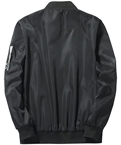 HENGAO Mens Reversible Bomber Jacket Coat