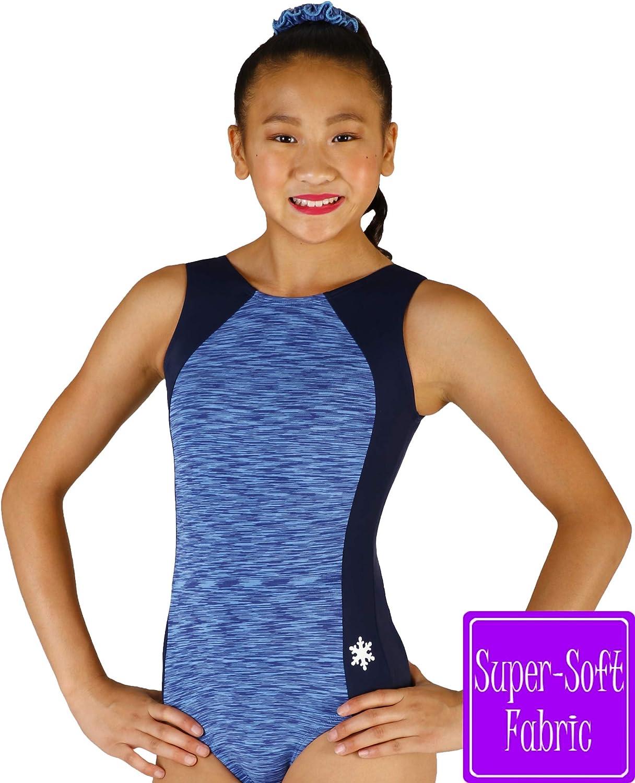 Snowflake Designs アドベンチャー体操ダンスレオタード - 6色から選択 ブルー Child Medium (small 6-7 year old)