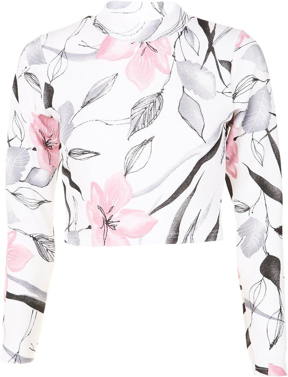 Para mujer diseño de larga Polo diseño de flores de fusta de manga ...