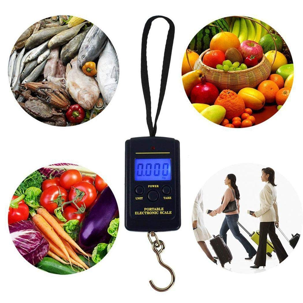 GoodKE Pocket Portable Travel Mini Electronic 40kg LCD Digital Hanging Luggage Scale Luggage Scales