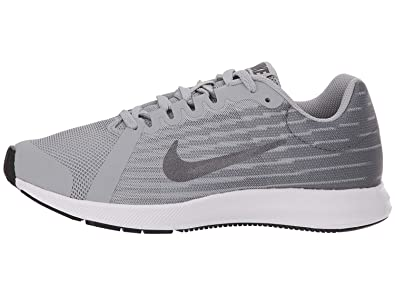 10335fd879c Nike Boy s Downshifter 8 Wide (GS) Running Shoe Wolf Grey Metallic Dark Grey