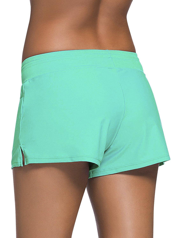 Costumi da Bagno Donna Pantaloncini Bikini Costume Intero Moda da Bagno Swimsuit Swimwear Costume Mare con Drawstring Regolabile Boyleg Style Dolamen Donna Pantaloni da Nuoto