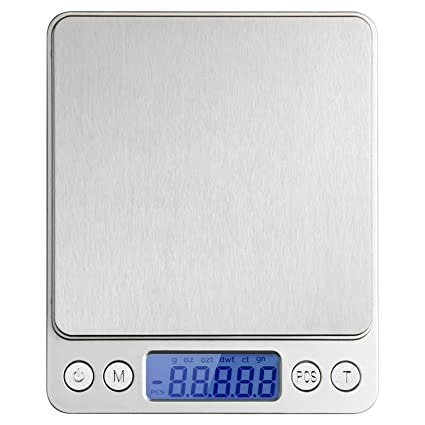 Xornis Precision Scale 500g x 0.01g Digital Pocket Kitchen Food Scale Jewellery Scale Stainless Steel