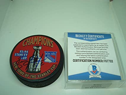 Image Unavailable. Image not available for. Color  Brian Leetch Autographed  Hockey Puck - 93 94 Stanley Cup ... 57ff5a898
