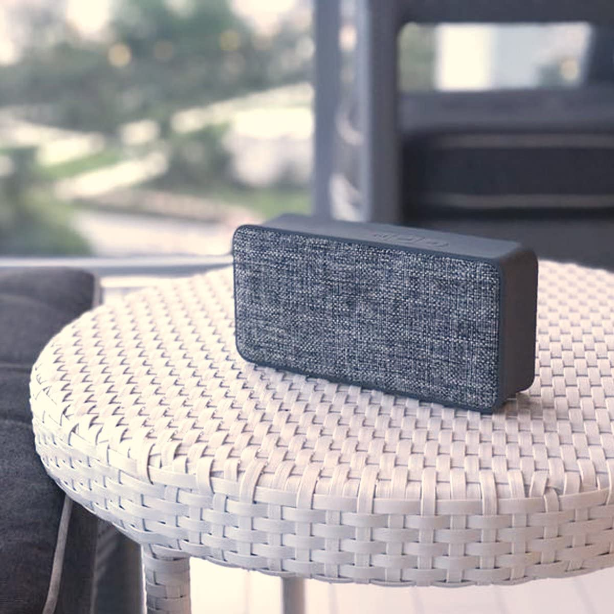 Great for Outdoors and Indoors AUX Built-in Microphone with Fabric Surface Woozik Home Portable Bluetooth Speaker