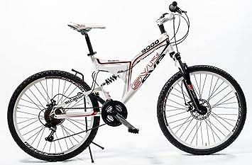 Bicicleta de aluminio con doble suspensión y frenos de disco ...
