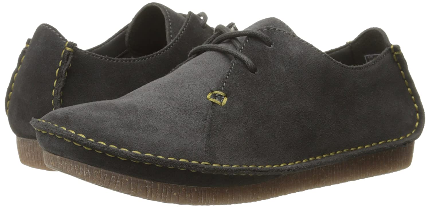 CLARKS Women's Janey Mae Oxford B00U7LHEDI 6 B(M) US|Dark Grey Suede