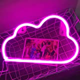 Fancci Cloud Light Neon Sign, Lovely Cloud Neon Signs for Bedroom, Cloud Neon Lights for Wall Decor, USB or Battery Decorativ