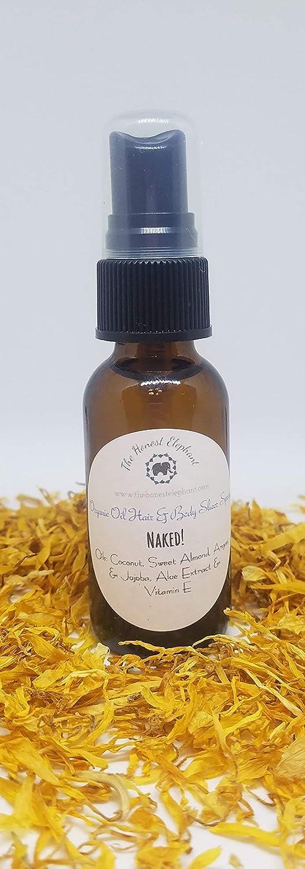 The Honest Elephant Organic Sheer Body & Massage Oil - Naked! Color Free, Fragrance Free - 2 oz