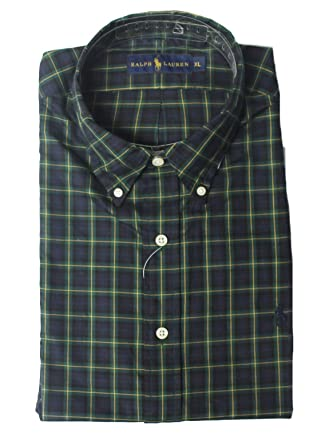 925e45ddd Polo Ralph Lauren Mens Check Grid LINE Shirt Long Sleeve jk103 (X-Large)   Amazon.co.uk  Clothing