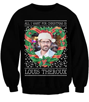 791bd8a94a84 Waterman Falls UK Louis Theroux - All I Want For Christmas! Xmas Bbc Top  Sweater Jumper Black T-Shirt (XXX-Large): Amazon.co.uk: Clothing