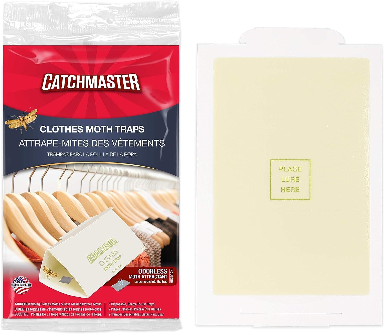 Catchmaster Clothes Closet Moth Trap - 24 Traps - Non Toxic - Glue Trap with Premium Pheromone Lure Attractant