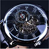 "Reloj de pulsera mecánico estilo clásico ""Steampunk Bling"" de Forsining, estilo con mecanismo visible, unisex"