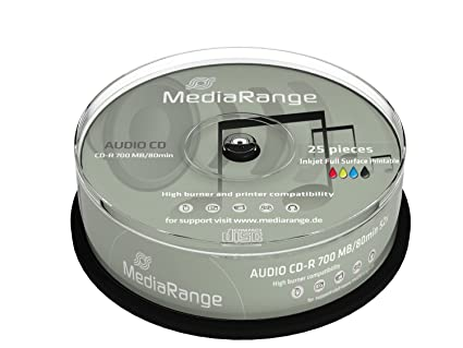 50 (2 x 25) MediaRange Rohlinge Audio CD-R 80 min printable ...
