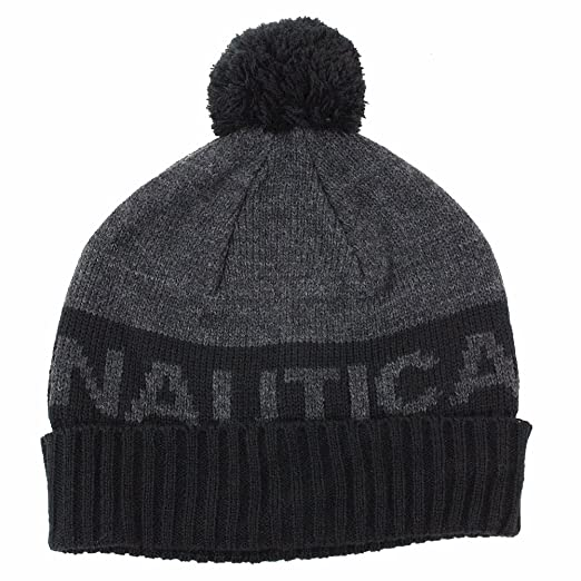 Amazon.com  Nautica Boy s Beanie Winter Hat Age  4-6 Years Black ... 821a262be5c