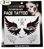 Expression Gifts 2-Pack Temporary Face Tattoo Kits - Assorted Styles For Halloween and Masquerade Parties