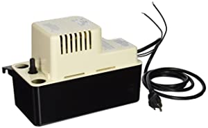 Little Giant GIDDS-521259 VCMA-15ULS VCMA Series Automatic Condensate Removal Pump (115 volts), 1/50 horsepower
