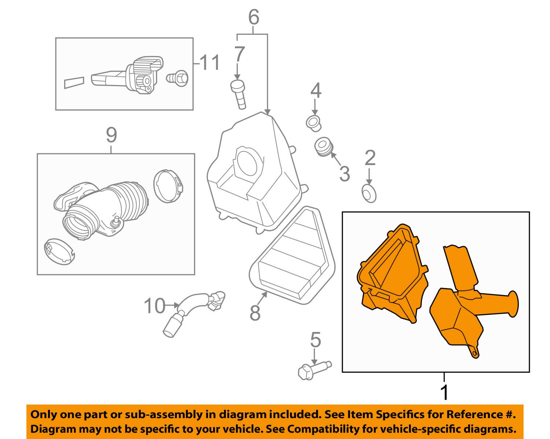 GM OEM Air Cleaner Box-Bottom Lower Housing Body 25847283