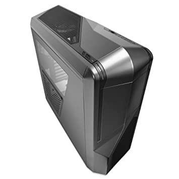 NZXT Phantom 410 Mid Tower Computer Case, Gunmetal with Black Trim (CA-PH410