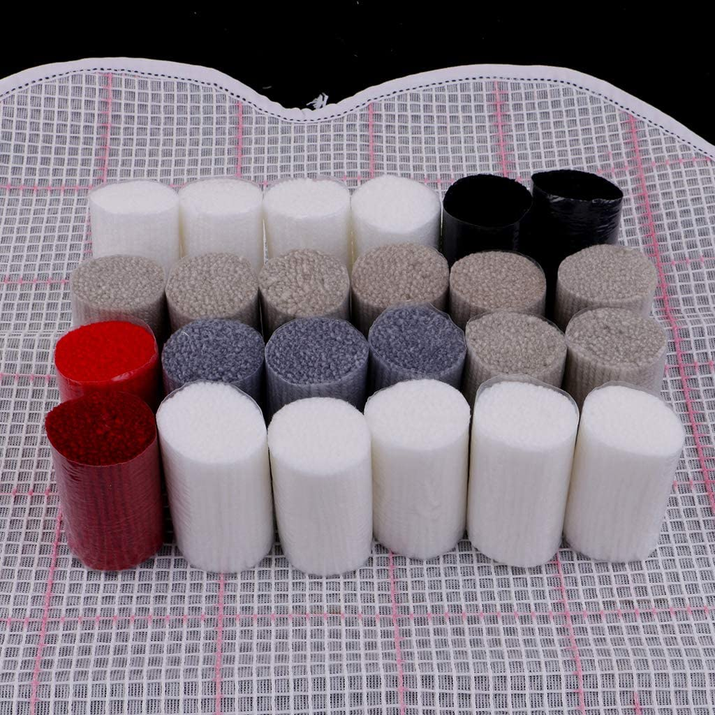 Latch Hook Kits B/är Wei/ß chiwanji Formteppich Kn/üpfteppich Kn/üpfset Kn/üpfpackung zum Selber Kn/üpfen Teppich f/ür Kinder Erwachsene oder Anf/änger