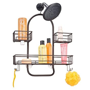 Amazoncom Mdesign Extra Wide Metal Wire Tub Shower Caddy