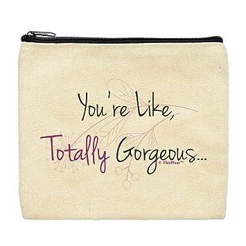 1b14eb8bb852 Amazon.com : Cute Canvas Makeup Bag You're Like Totally Gorgeous ...