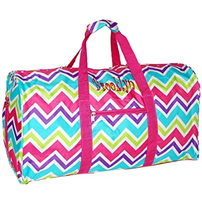 Personalized Multi Color Chevron Duffle Cheer Bag 21 Inch