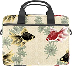 Laptop Carrying Case Red and Black Goldfish Compatible with 13-13.3 inch MacBook Pro, MacBook Air,Notebook Computer 11x15in
