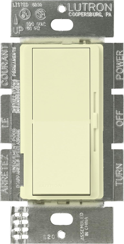 Almond Lutron Electronics Company Inc. no neutral required Lutron DVSTV-AL Diva 8 Amp 3-way//Single-Pole 0-10V Dimmer